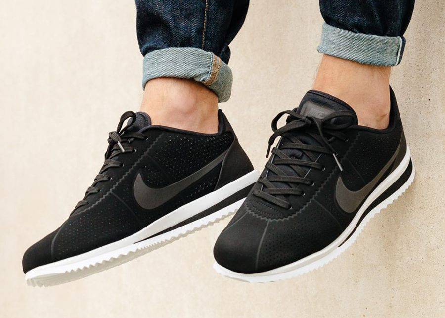 casual shoes incredible prices on feet at Nike Cortez Ultra Moire 'Black/White' in 2019 | Nike cortez ...