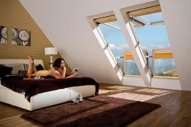 Idee per l\'arredamento della mansarda - Camera da letto matrimoniale ...