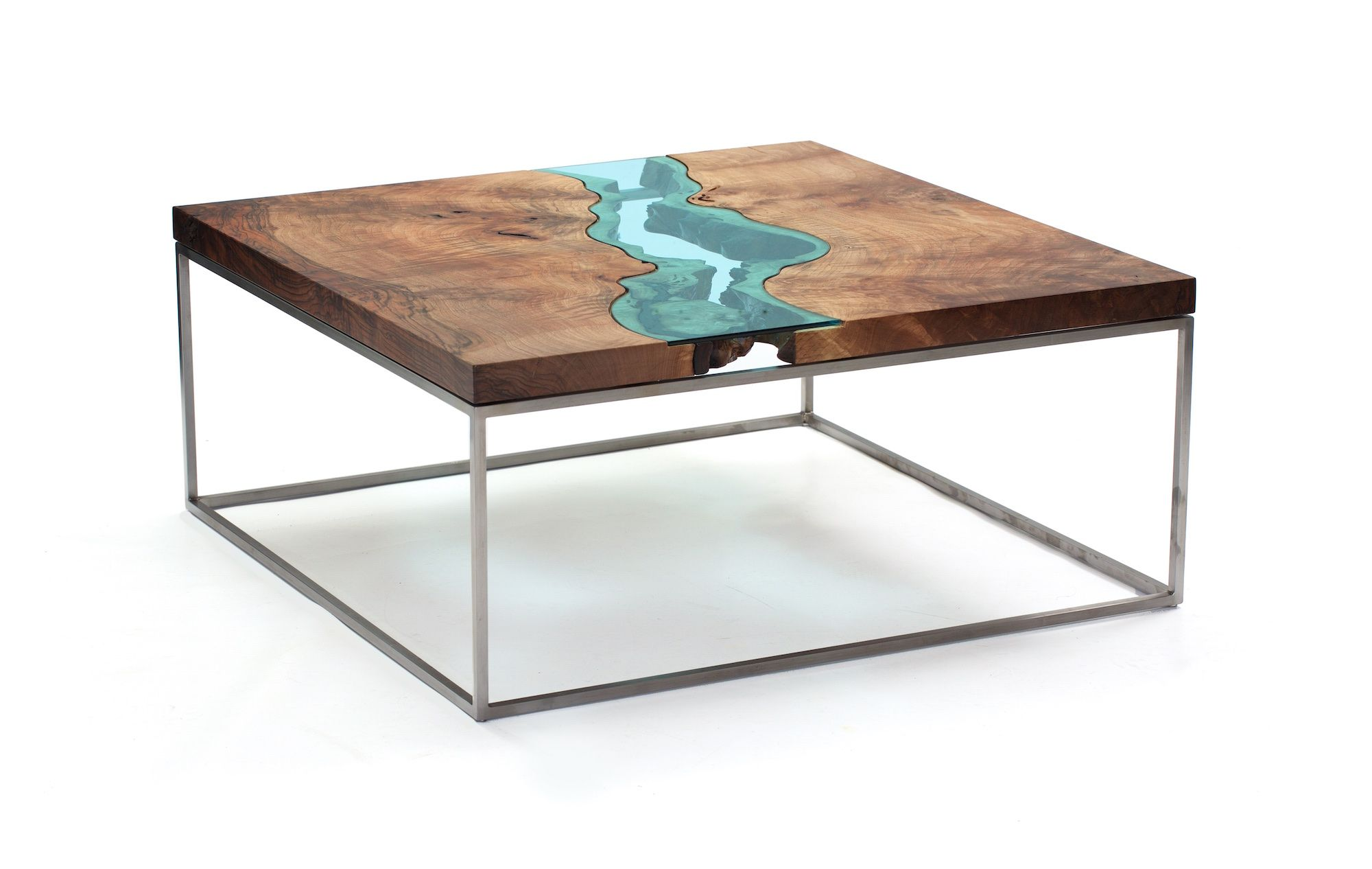 Square Walnut River Coffee Table 1 Northwestern Washington based