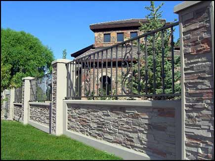 Texture Gallery Concrete Fence Wall Fence Design Backyard Fences