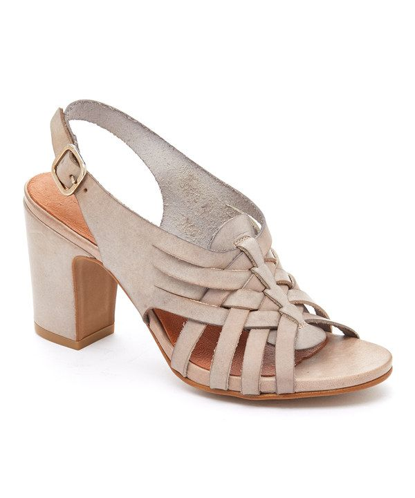 88fc64d34 Look at this Taupe Heather Leather Sandal on  zulily today!