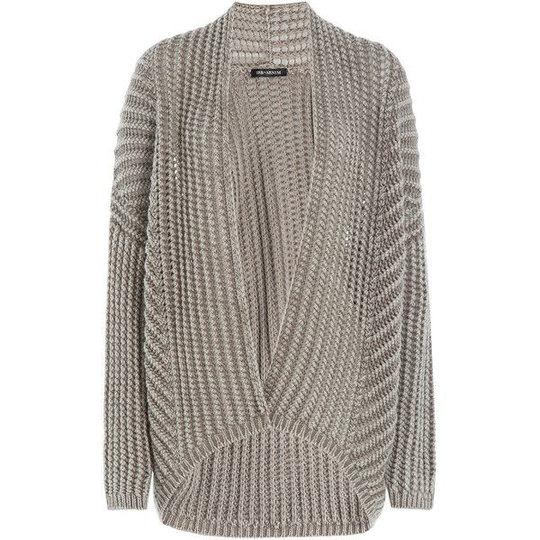 Iris von Arnim Ribbed Cashmere Cardigan ($1,195) ❤ liked on Polyvore featuring tops, cardigans, beige, drapey cardigan, cashmere cardigan, draped open front cardigan, shawl collar cardigan and brown open front cardigan