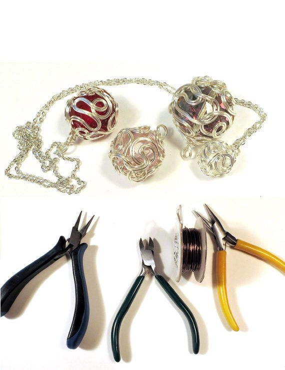 Tutorial - Wire-Wrapped Ball Pendant | wire | Pinterest