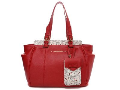718852d0c92e Hello Kitty x Samantha Thavasa Vega Tote Bag with Multi Purpose Case Medium  Red