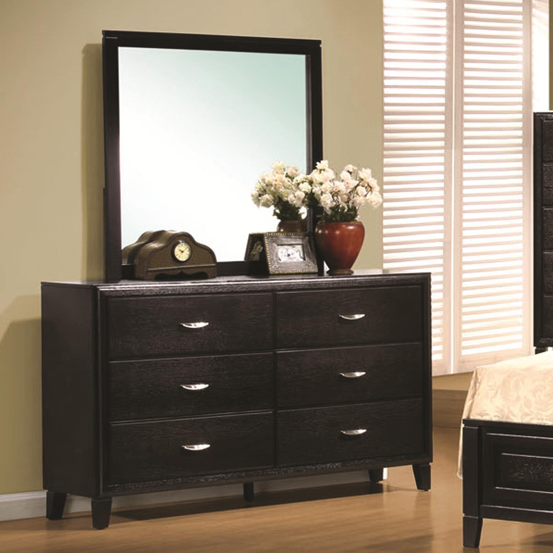 Coaster Furniture Nacey Contemporary 6 Drawer Dresser & Mirror