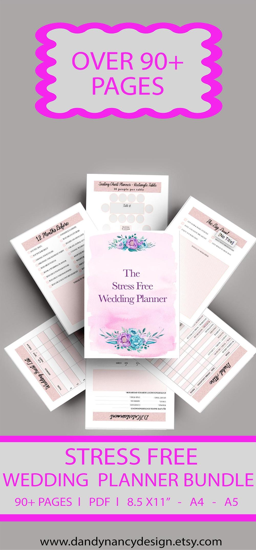 Wedding Planner Bundle Printable Wedding Planner Printable | Etsy