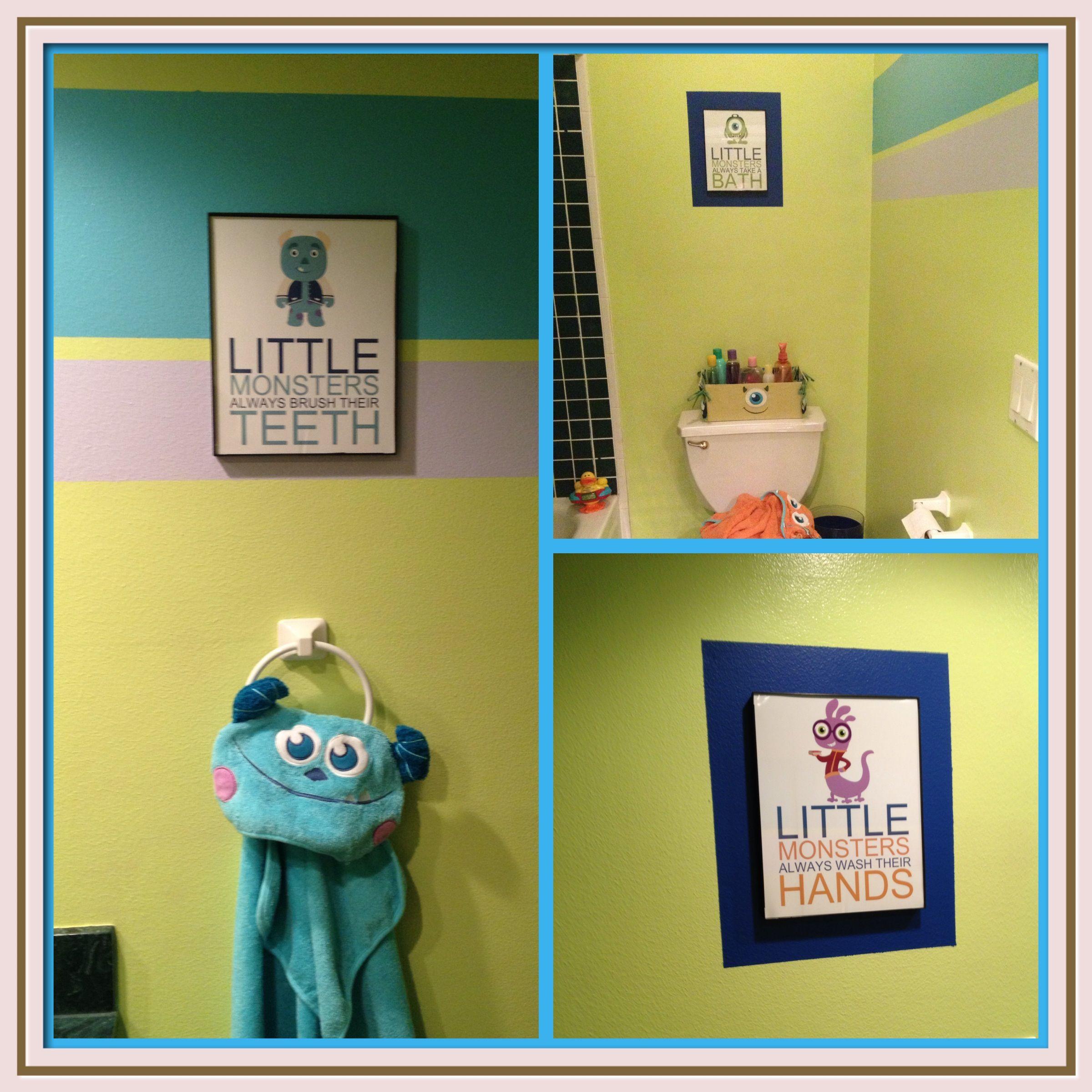 Monsters Inc Bathroom Childrens, Monster Bathroom Set