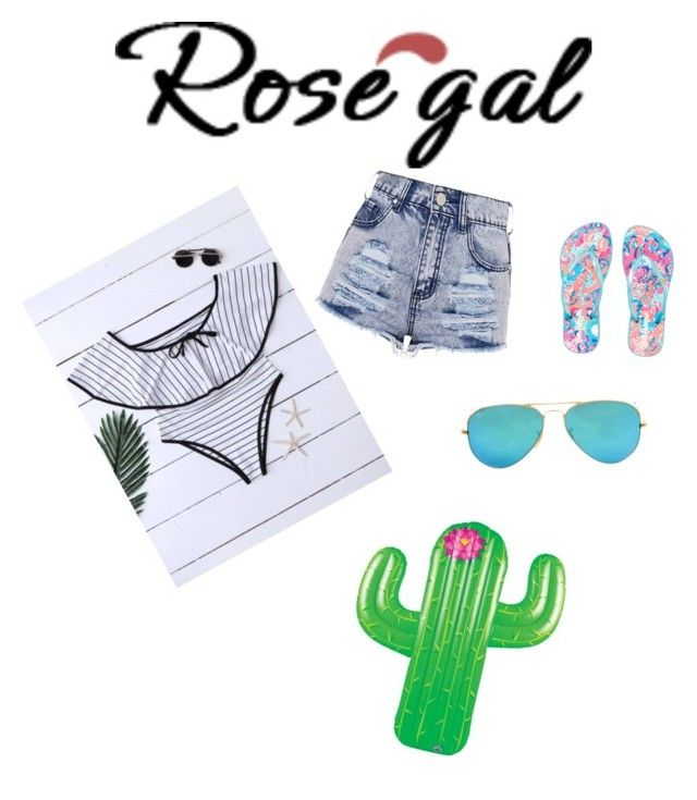 """Untitled #195"" by carolinehorn25 ❤ liked on Polyvore featuring Lilly Pulitzer, Ray-Ban and Big Mouth"