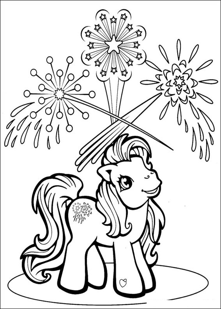 My Little Pony Christmas Colouring Pages  Colouring for Kids