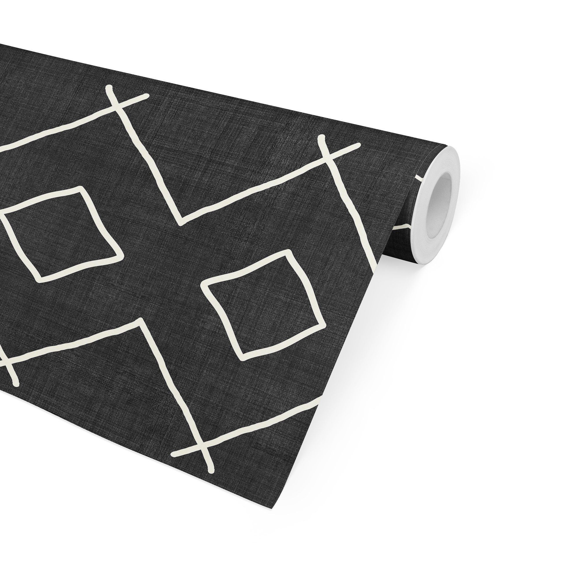 BATH BLACK & WHITE Peel and Stick Wallpaper By Becky Bailey - 2ft x 16ft