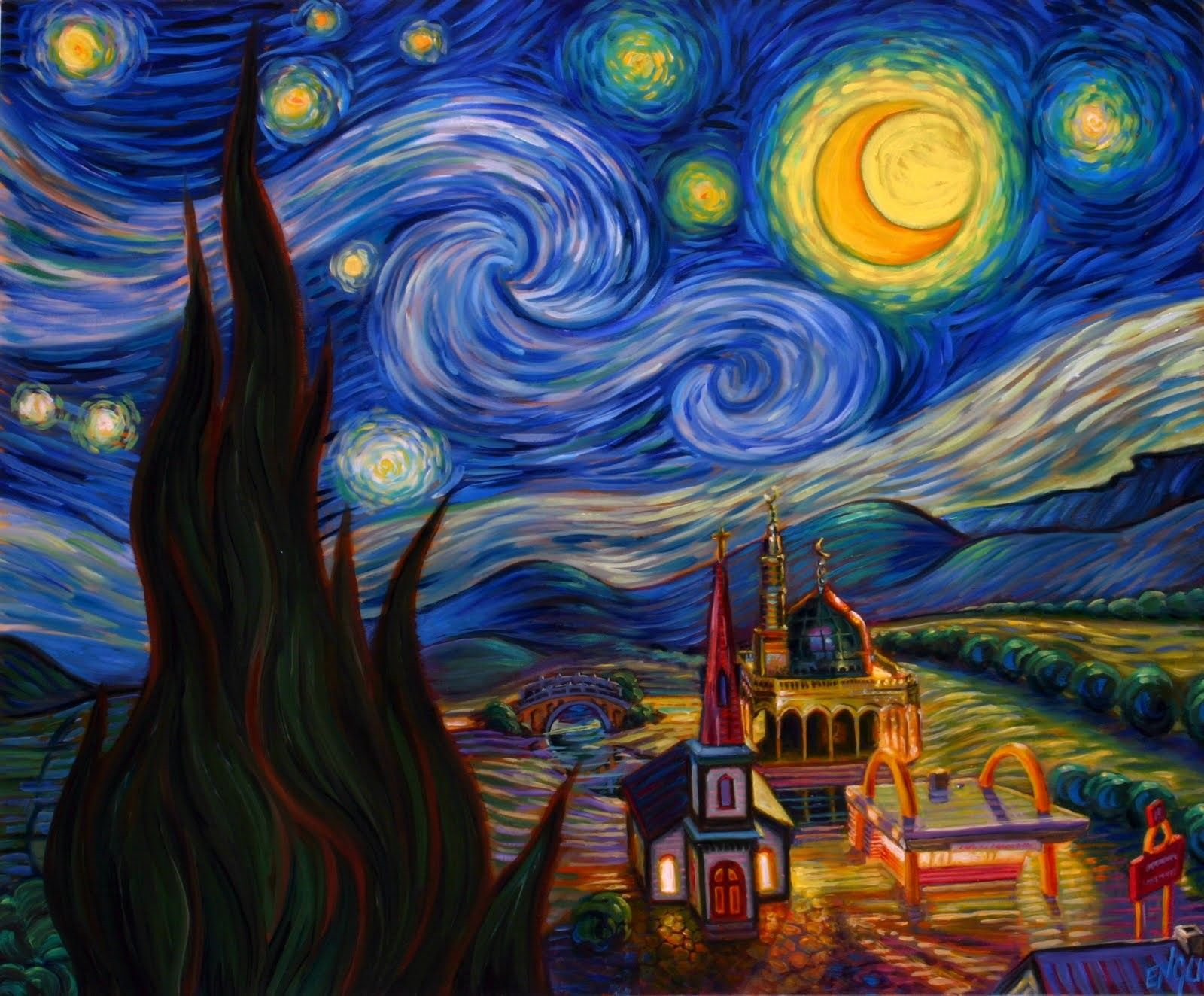 The Starry Night Vincent Van Gogh Meaning Wallpaper ...