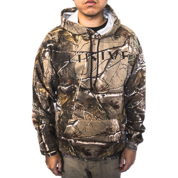 Elusive Hunter Hoody in Realtree Camo ($65) ❤ liked on Polyvore featuring men's fashion, men's clothing and men's hoodies