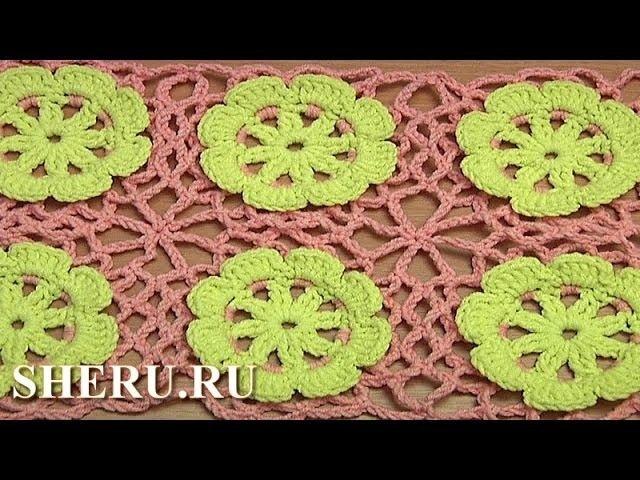 Crochet Floral Motif Tutorial 38 Цветочный мотив крючком