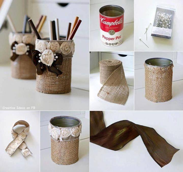 Comment Donner Une Seconde Vie A Une Boite De Conserve Des Idees Boite De Conserve Creation Maison Craft