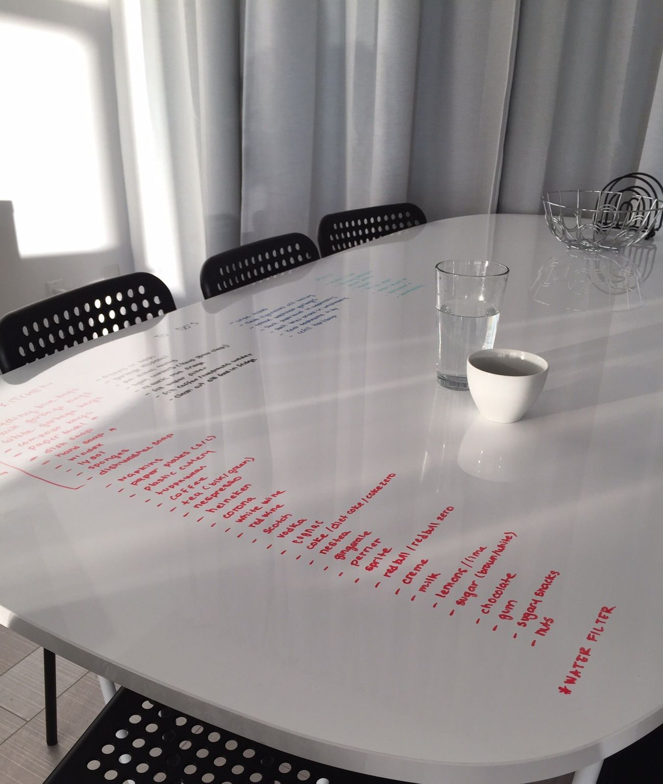 IKEA Oppeby Table: Multifunction Table Uses Whiteboard As Table Top