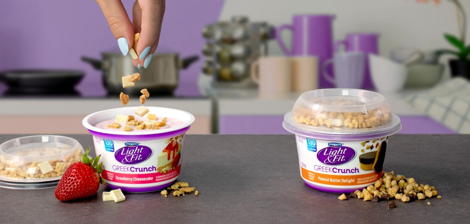 Dannon light fit yogurt with images snack smoothie