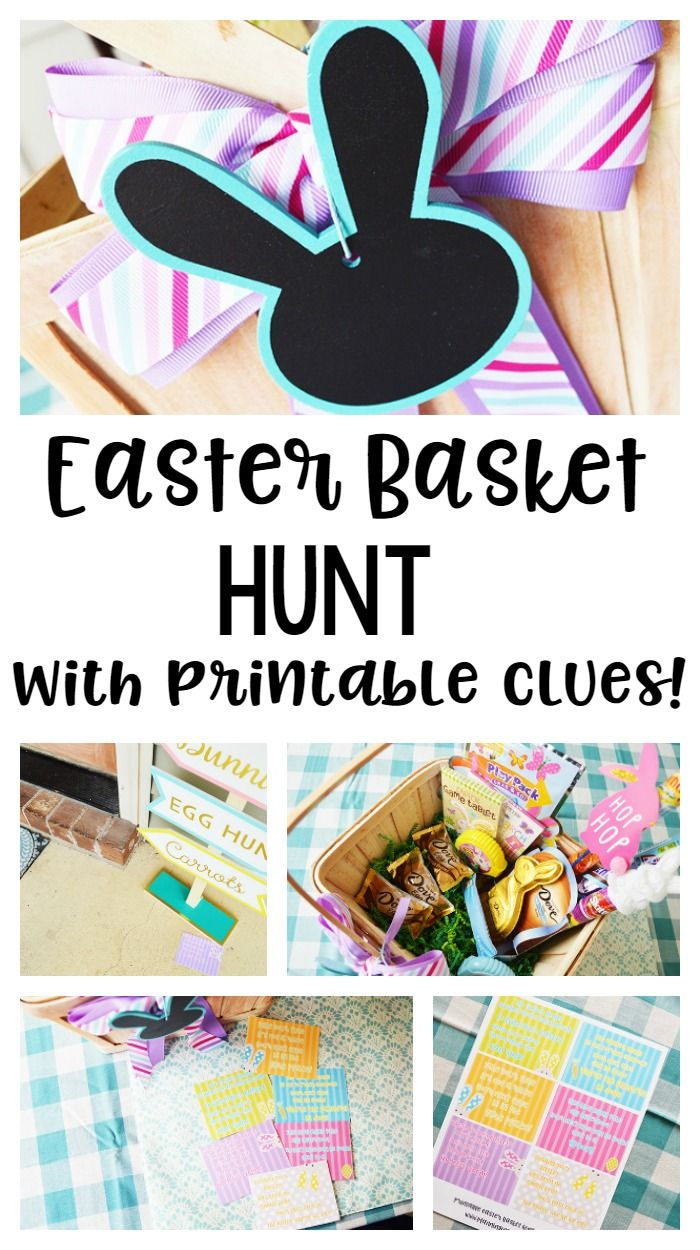 Easter basket hunt idea with printable clues easter baskets and easter easter basket hunt idea with printable clues planning inspired negle Images