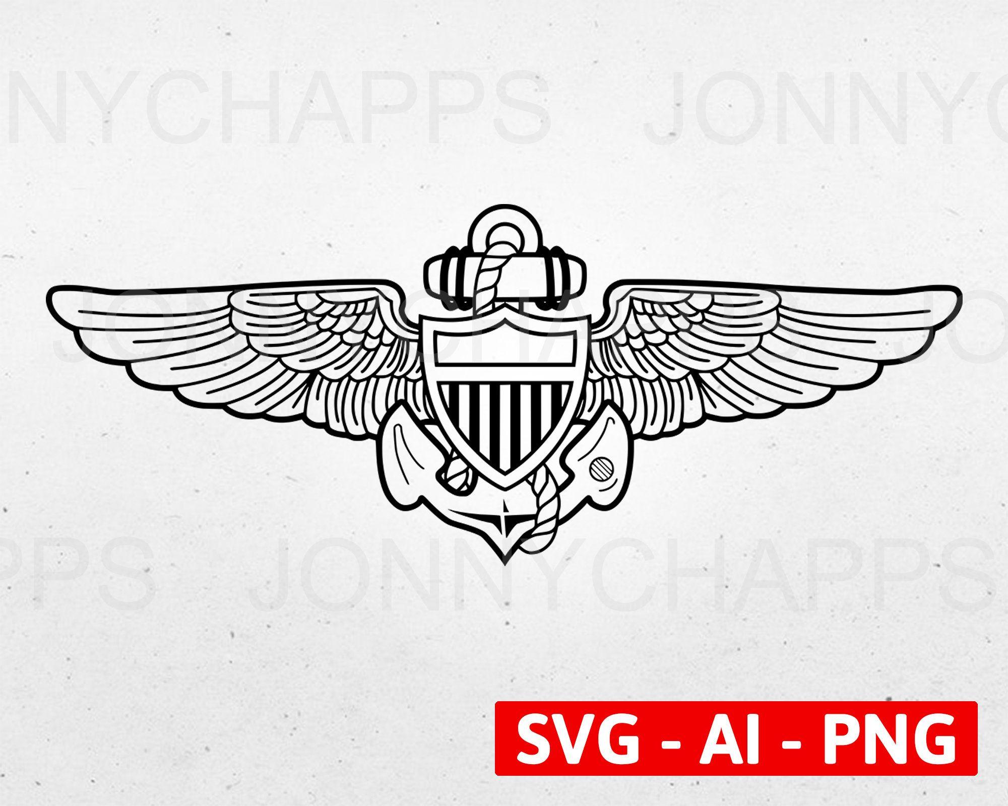 united states naval aviator aircrew wings badge digital vector | etsy in  2021 | naval aviator, badge, naval  pinterest