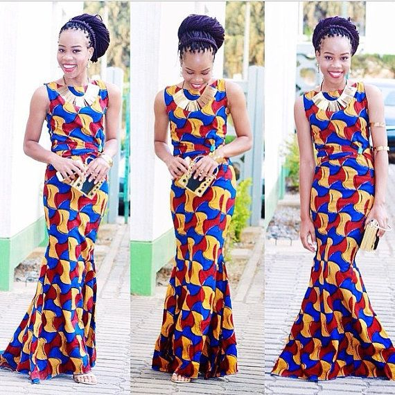 African Mermaid Dress #afrikanischerstil