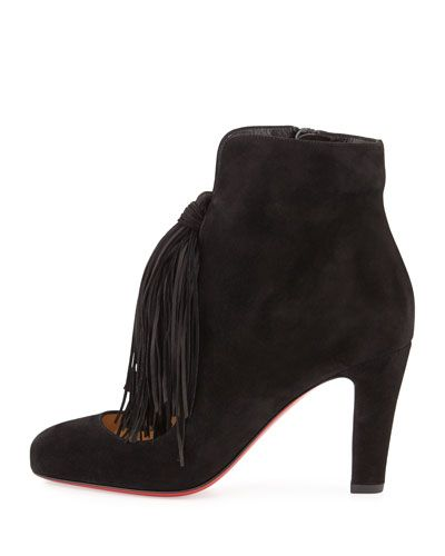 db64bbcb766 S0CN3 Christian Louboutin Christina 85mm Suede Tassel Red Sole ...