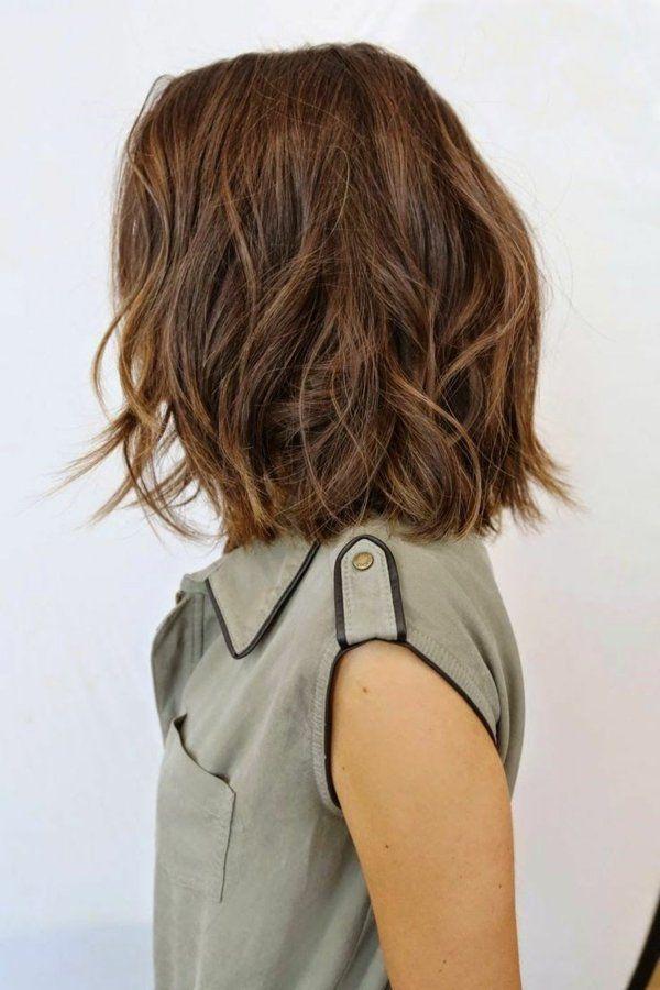 Aktuelle Madchenfrisuren Fur Haare Der Mittleren Lange Kurzhaarfrisuren Bob Frisur Haarschnitt