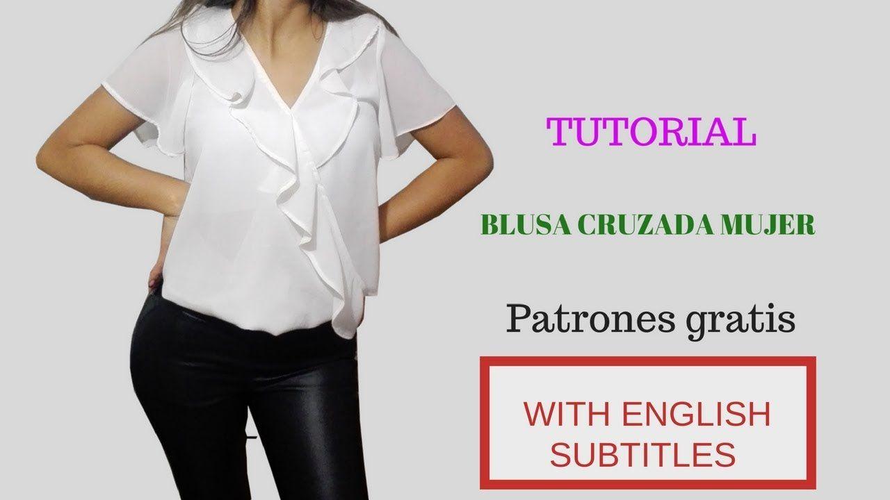 DIY Como hacer una blusa blusa cruzada con boleros para mujer ...