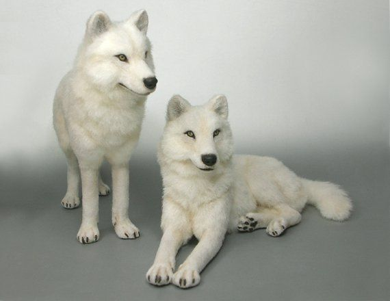 Life Size White Wolf Toys I Am Winter The Standing Up One Alpha And