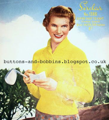 The Vintage Pattern Files: Free 1950's Knitting Pattern - A Womens Sports Sweater