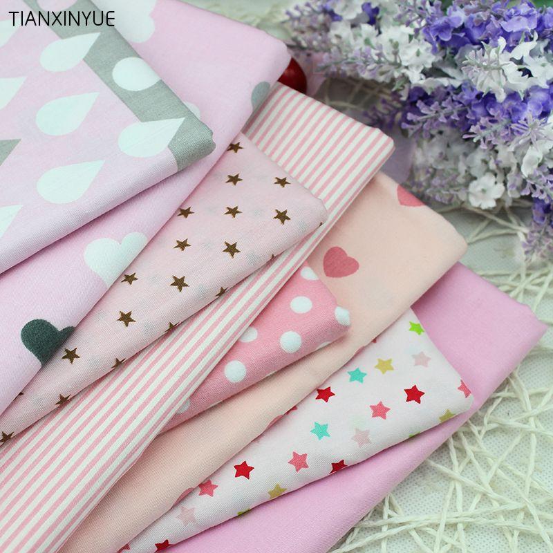 Cotton Pre-Cut DIY Square Quilt Fabric Quarter Material 50*50cm//50*160cm Crafts