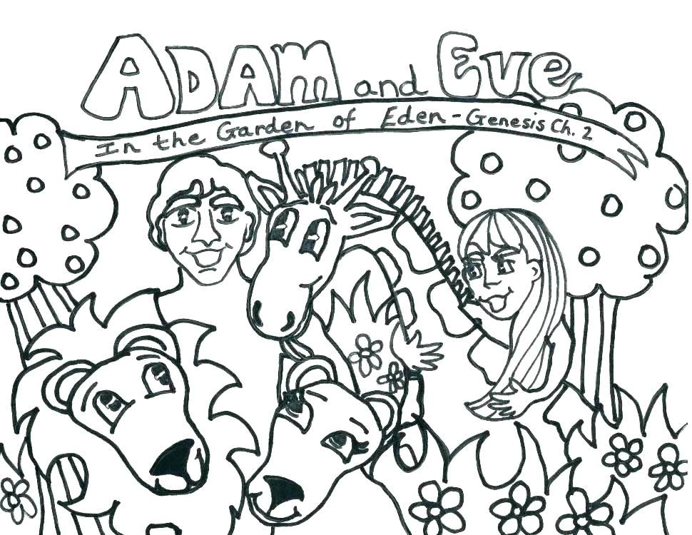 Adam And Eve Coloring Page And Eve Coloring Pages For Kids Plus