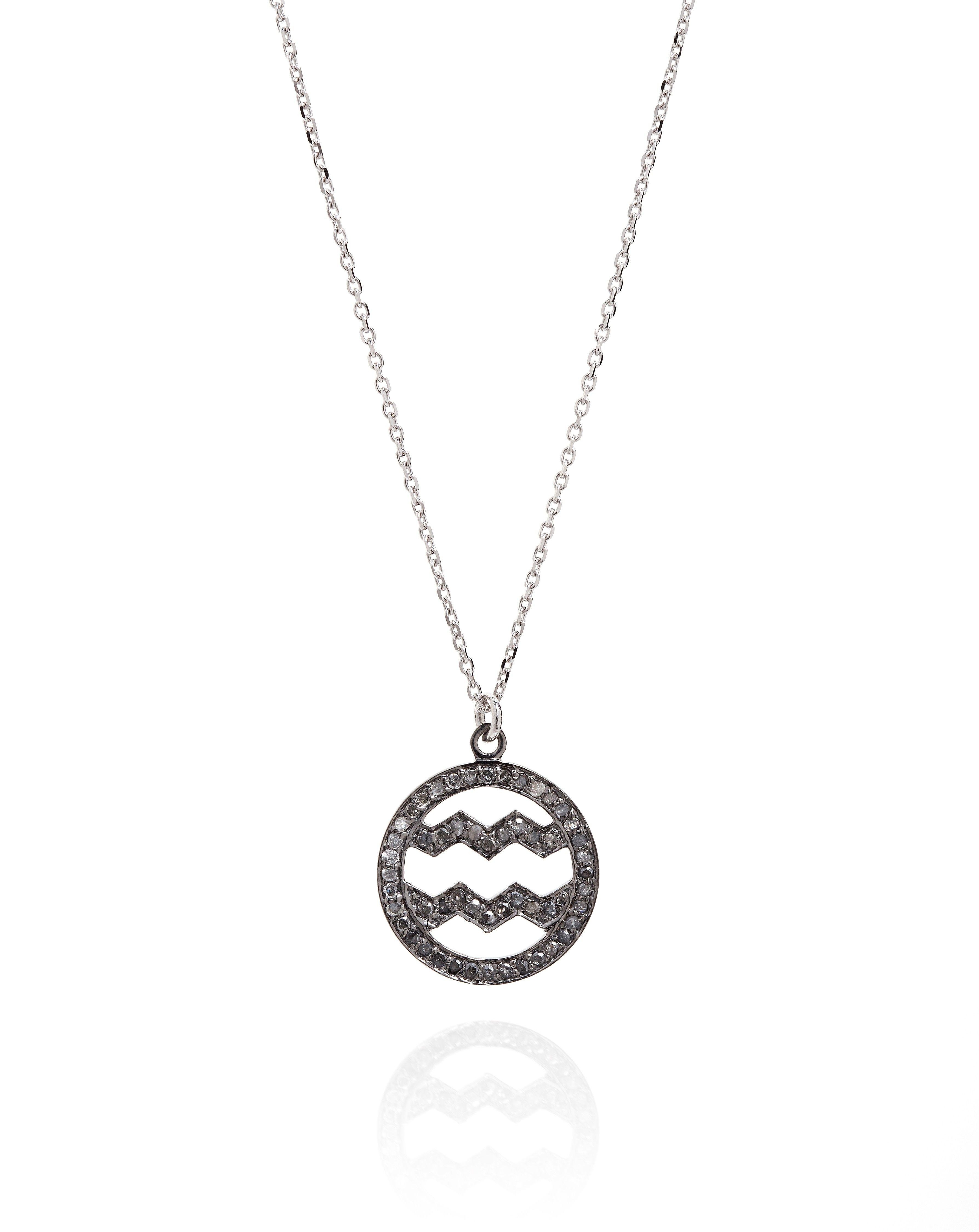 Diamond set zodiac symbol necklace aquarius necklaces hold diamond set zodiac symbol necklace aquarius necklaces hold fast diamonds oracle biocorpaavc Image collections