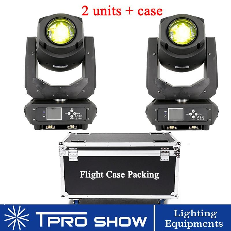 2in1 Flight Case 2pcs Lyre Beam 200w Moving Head Spot Led Stage Lights Dmx512 Sound Control Beam 7r For Dj Party Club Show Light Commercial Lighting Dj Lighting Gobo