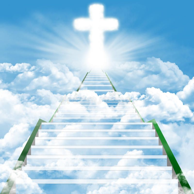 Stairway To Heaven Illustration Of A Ladder Leading Upward To Heaven Spon Illustration Heaven Stair Heaven Painting Heaven Wallpaper Stairs To Heaven
