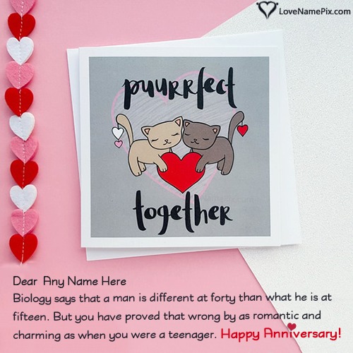 romantic anniversary cards for husband with name in 2020