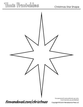 Christmas Star Templates Star Template Printable Star Template Christmas Star
