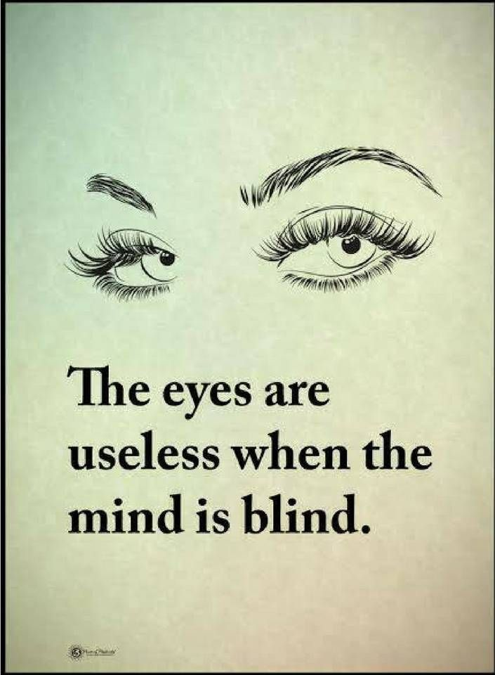 thoughtful quotes the eyes are useless when the mind is blind