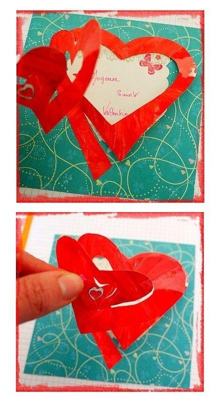 Carte saint Valentin Saint Valentin - créations pour enfants