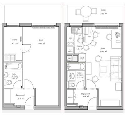3 Exemples Pour Optimiser Un Studio Ou 2 Pieces Plan Maison Plan De Maison Gratuit Plan Maison 3d