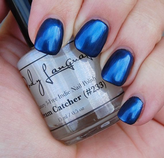 Sheer Blue Iridescent Nail Polish DREAM CATCHER Nail by BLSoaps ...