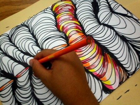 Line Design Art Project : Best op art images classroom and