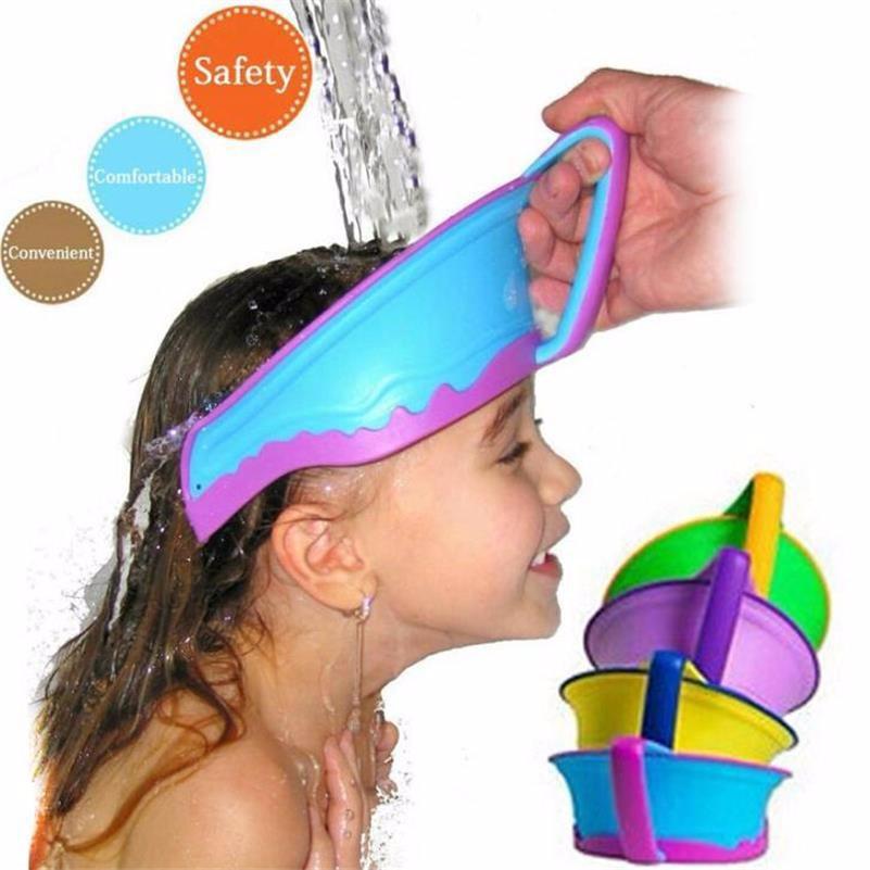 85dc44631 Kids Bath Baby Shower Cap Shield Eyes while Washing Hair   new baby ...