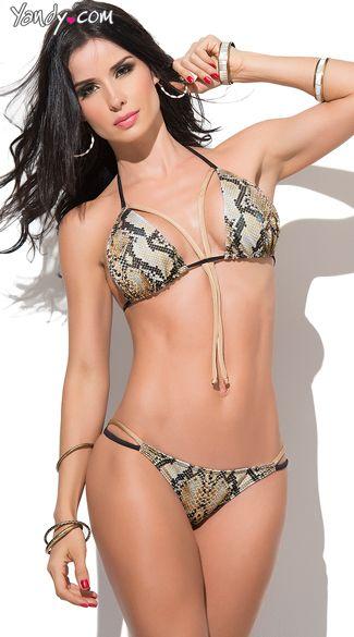 e3581c6db2f Buy this exclusive sexy Sizzling Snakeskin Bikini at Yandy. #Yandy ...