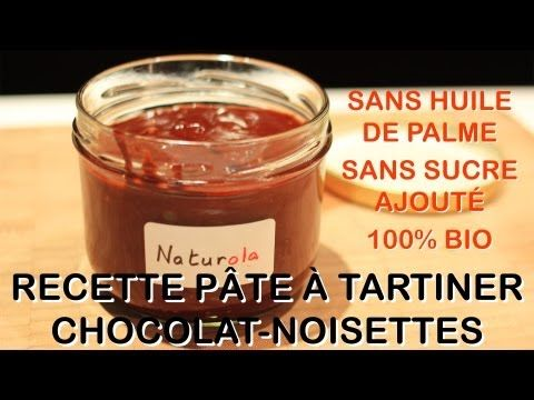 recette bio de p te tartiner chocolat noisettes sans huile de palme sans lait et sans sucre. Black Bedroom Furniture Sets. Home Design Ideas