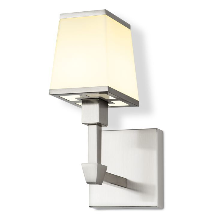 kingston wall sconce with opal glass shade satin nickel on wall sconces id=53500