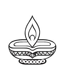 Image Result For Diya Black And White Clipart Diwali Diya Diwali Colours Diwali