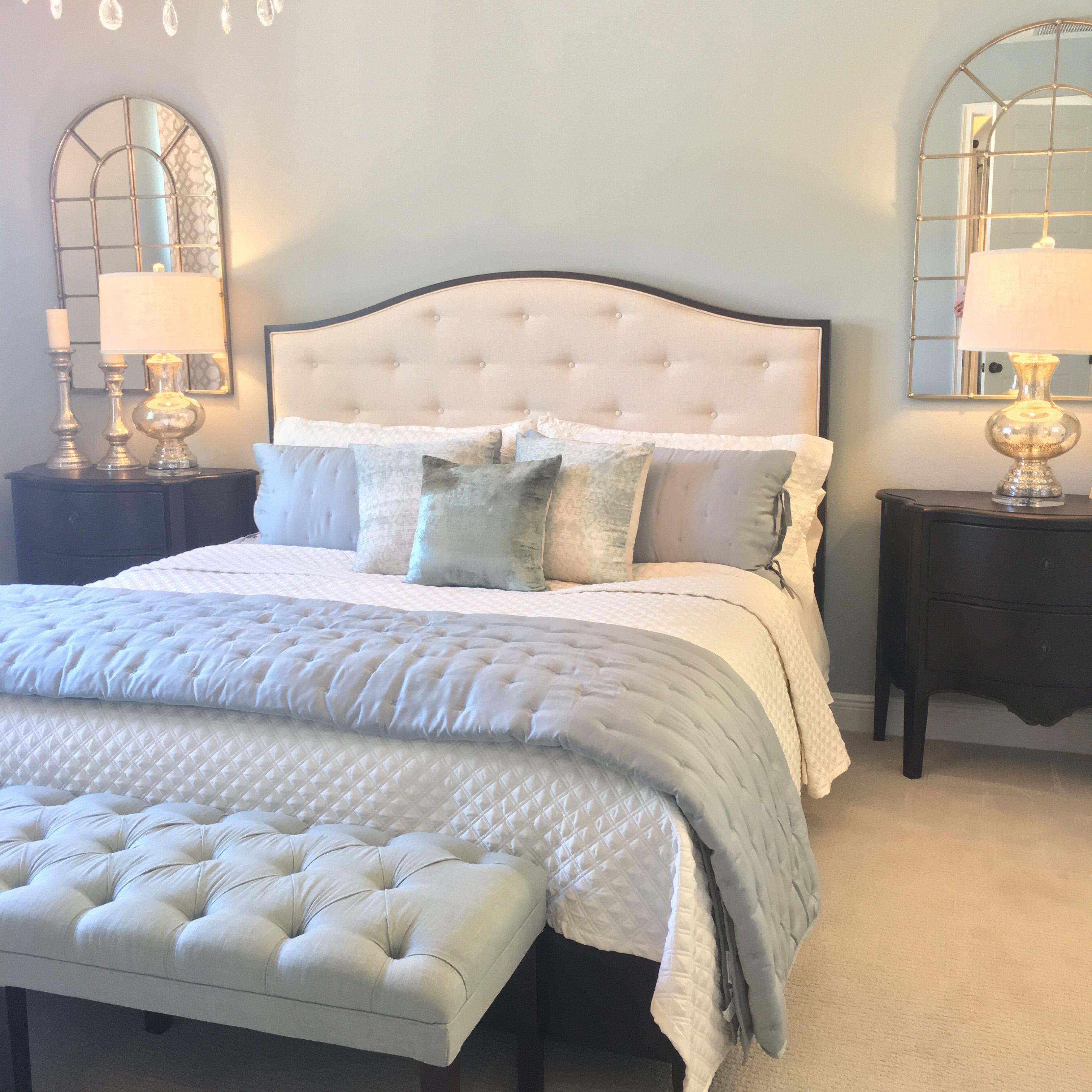 Coastal glam bedroom glam bedroom bedroom interior