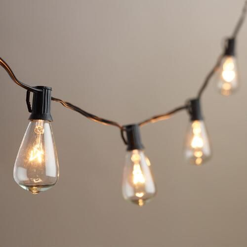 Light Bulbs On A String Simple Edisonstyle String Lights  10Bulbstringworld Market Inspiration Design