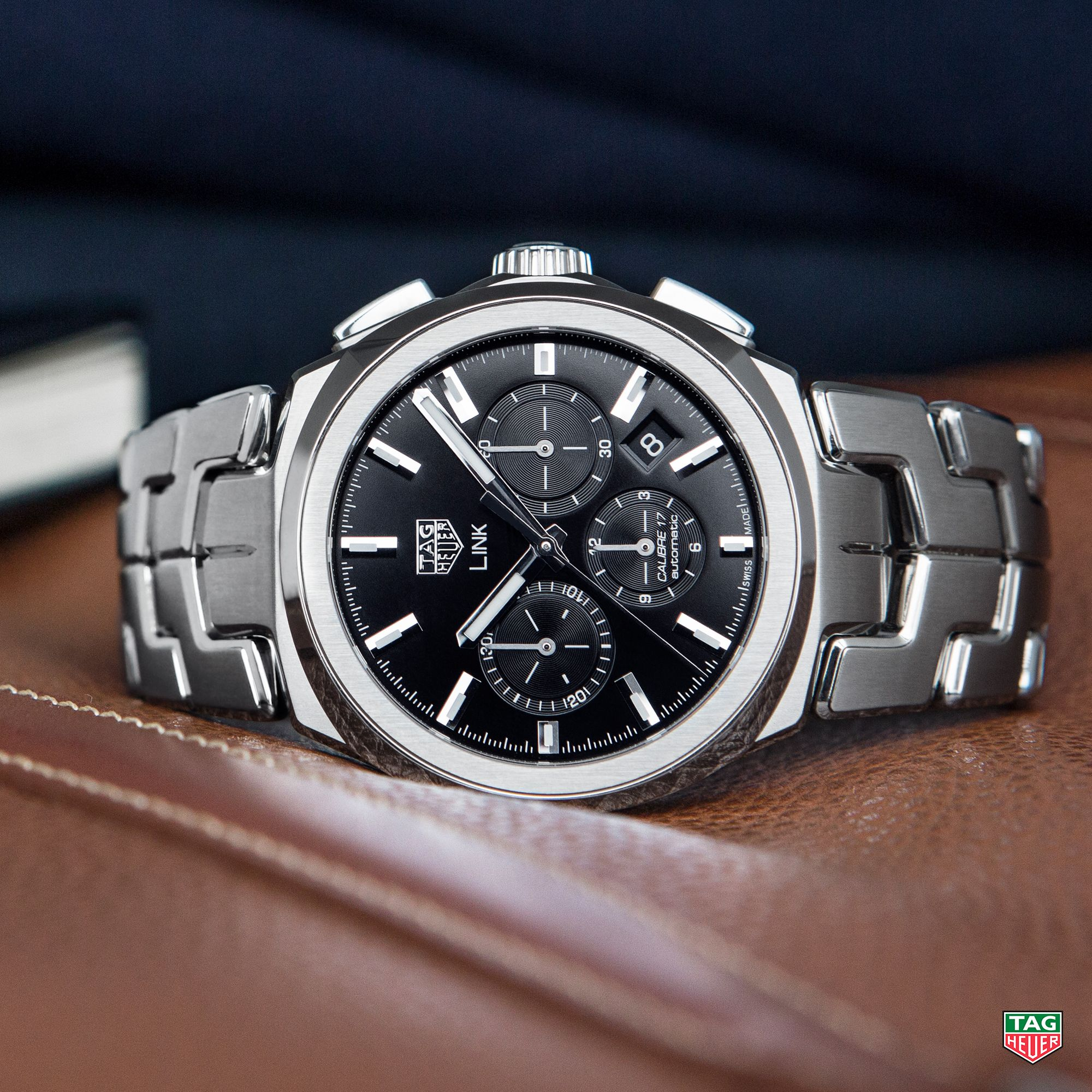 8b3f08991848 You can t go wrong with classic black. The TAG Heuer Link Calibre 17 Black.   DontCrackUnderPressure  TAGHeuerLink  Calibre17  Black