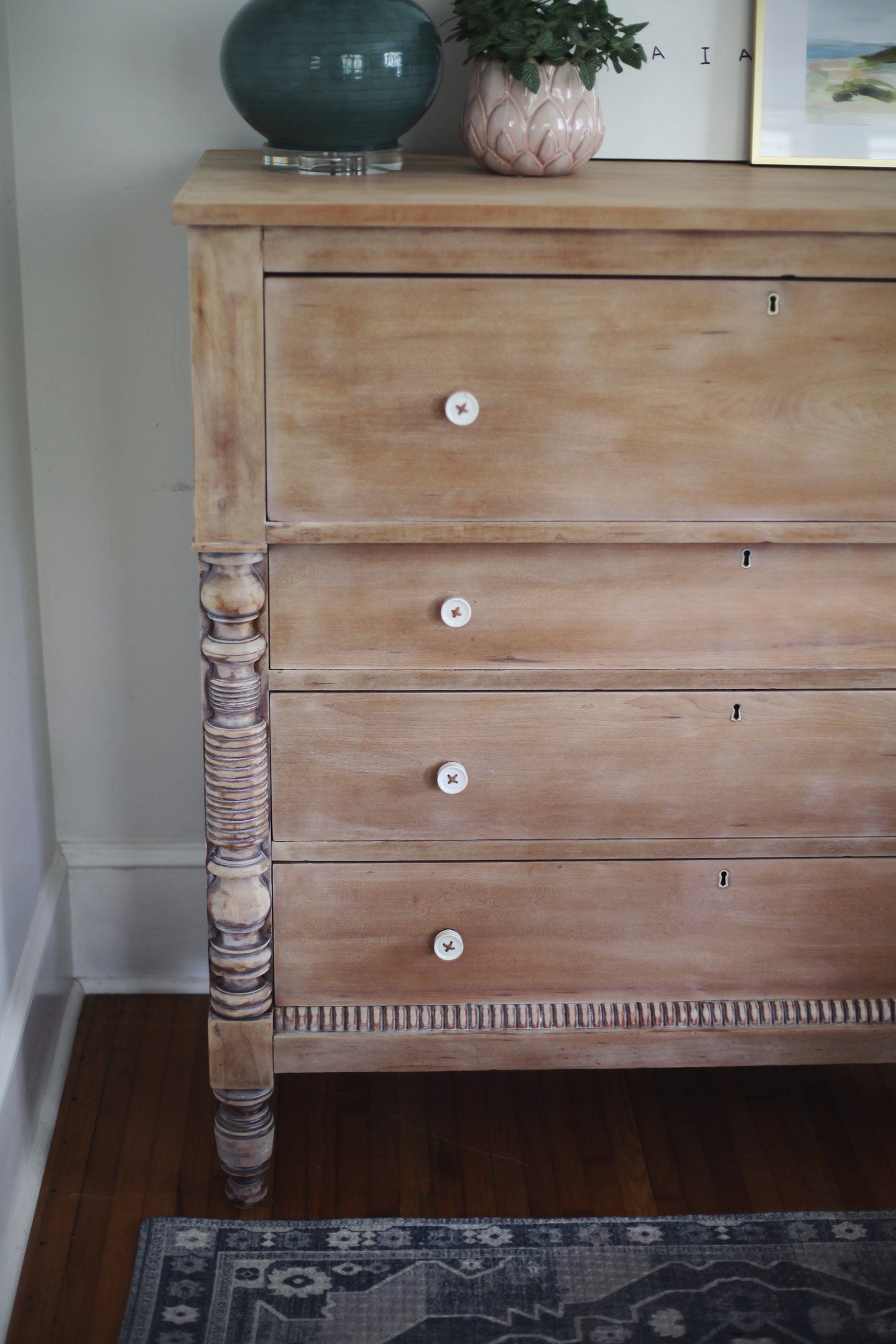 Dresser Makeover Whitewashed Weathered Look Furniture