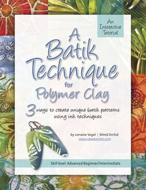 polymer clay tutorial a batik technique for polymer clay by wired orchid basteln pinterest. Black Bedroom Furniture Sets. Home Design Ideas